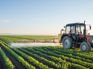 farm truck spraying pesticides